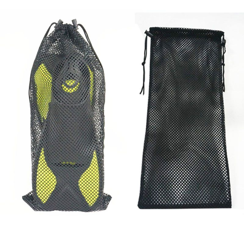 7b16b6468f24 Details about Nylon Mesh Drawstring Quick dry Storage Bag for Scuba Gear  Dive Fins Snorkel USA